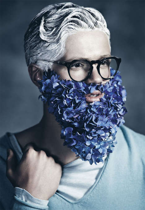 Floral Facial Hair Shoots