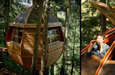 Ovular Arboreal Abodes - The Hemloft Treehouse is Egg-Shaped and Forest-bound