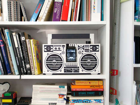 Recyclable Smartphone Stereos - The Cardboard 'Berlin Boombox' is the Analog/Digital Hyb