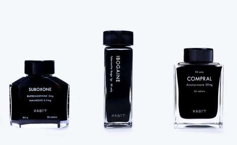 Drug-Abuser Cessation Products - Habit 'Black Rehab' Packaging Uses Luxury to Treat Addiction
