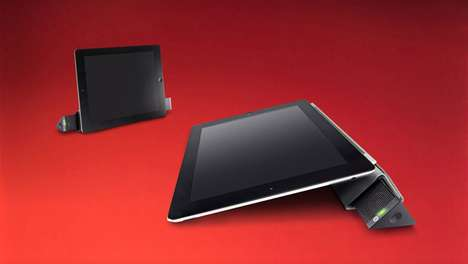 Triangular Tablet Sound Pieces - The 'Sound Prism' Offers Support and Sound for the iPad