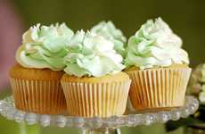 Spicy Condiment Cakes - These Wasabi and White Chocolate Cupcakes are Bursting with Sweet Heat