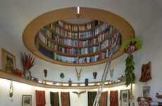 Domed Ceiling Bookshelves - The Wade Davis Writing Studio Boasts a Sky-High Library