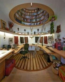 Domed Ceiling Bookshelves