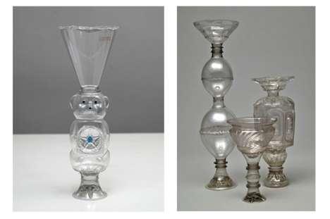Ornate Plastic Bottle Vases