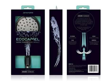 Animalistic Shower Head Branding