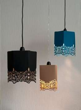 Lacy Hanging Lights - The Inge Simonis Paper Lamp Adds Some Intricate Detail to the Celing