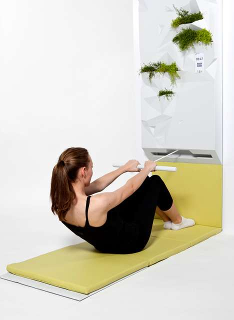 Disguised Fitness Equipment - The Arceas Home Gym is a Vertical Planter When Not in Use