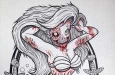 Decaying Disney Divas - Kendel Marce Illustrates Zombified Versions of Classic Movie Princesses
