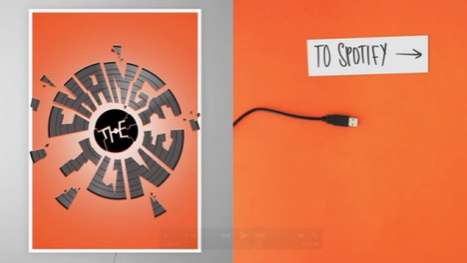 Music-Switching Posters  - 'Change the Tune' Adjusts Tracks with Each Blow