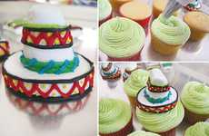 Mexican Attire Cupcake Toppers - These Marshmallow Sombreros and Sarapes are Fabulously Festive
