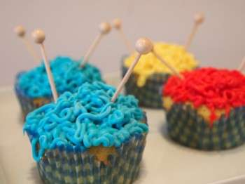 Needle-Skewered Craft Cakes