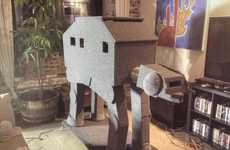 Galactically Inspired Kitty Digs - Redditor Billy Appletini Builds Awesome AT-AT Walker Cat Condo
