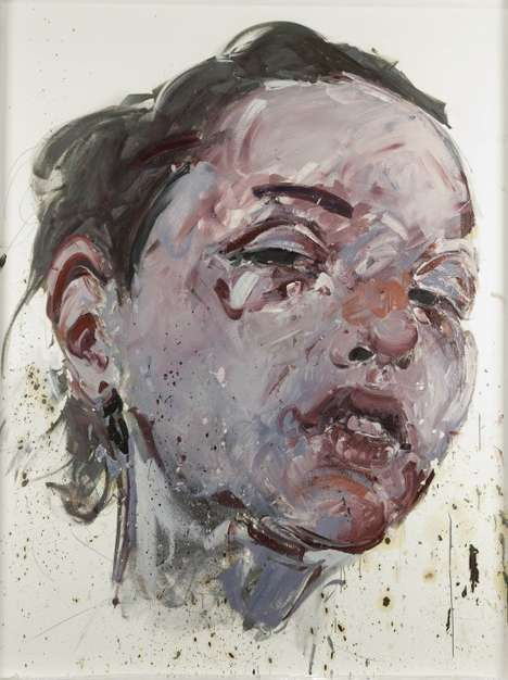Marbly Smeared Paint Portraits
