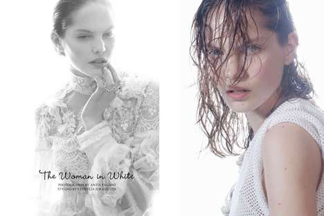 Ethereal Wet-Haired Editorials