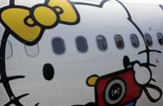 Upscale Feline Airports - The Eva Airlines Hello Kitty Line Merges Travel With a Fictional Character