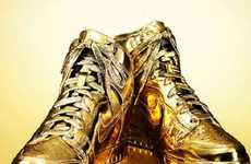 Glamorously Golden Sneakers - Kenneth Courtney's 'Indulgences No. 5' Sneakers Have the Midas Touch