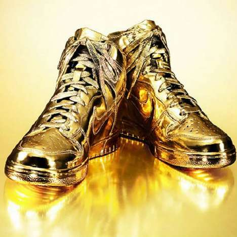 Glamorously Golden Sneakers