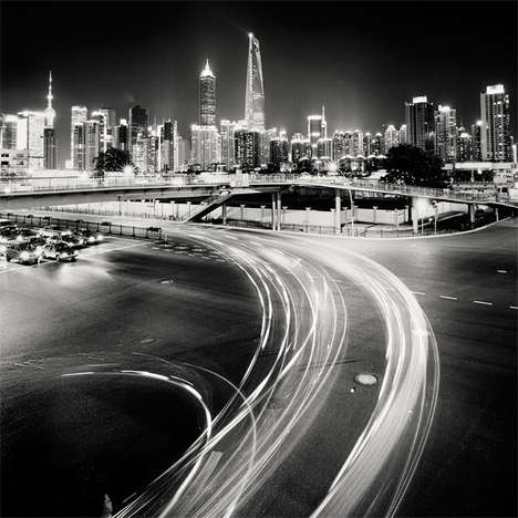 Grayscale Nocturnal Skylines