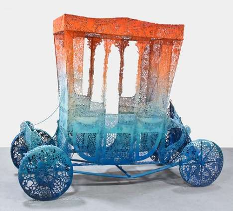 Intricately Patterned Steel Sculptures