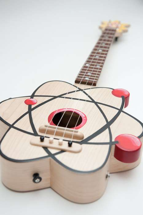 Celentano Woodworks Atom Ukelele is Quirky and Perfect for Space Junkies
