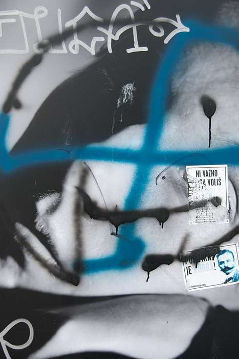 Gritty Graffiti-Grafted Portraits