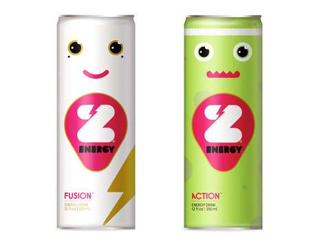The Z Energy Drink Packaging is Too Cute for Words