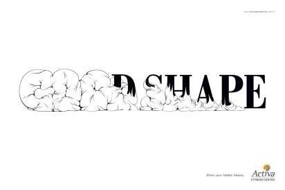 Fat-Shedding Font Ads
