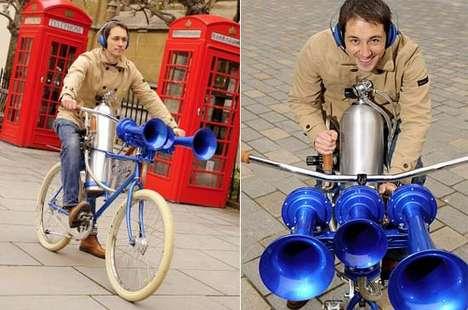 Deafening Bike Horns