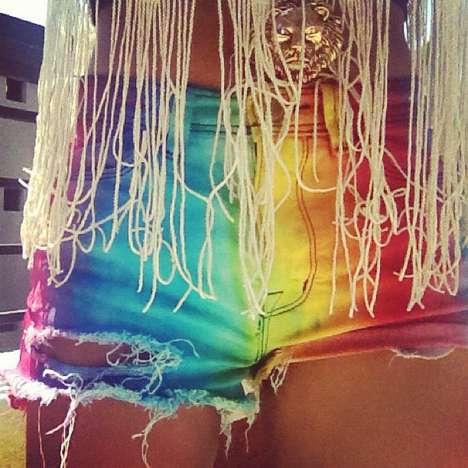 DIY Tie-Dye Booty Shorts