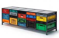Colorful Crate Furniture
