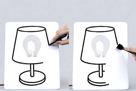 Doodling Whiteboard Lighting