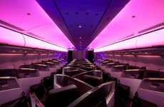 Futuristic Fuchsia-Blast Aviators - Virgin Atlantic Airways Gets a Touch of Chic by VW + BS Studio