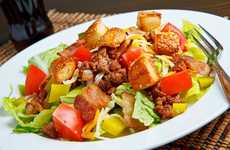 Deconstructed Fast Food Meals - The Cheeseburger Salad is the Healthy American Icon Alternative