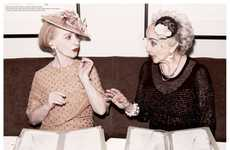 Regal Senior Editorials - The Ponystep Magazine 'Stunning Old Lass' Photoshoot is Retro-Themed