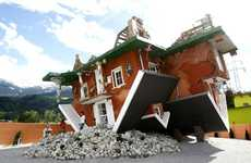 Topsy-Turvy Architecture - The Upside Down House in Terfens, Austria is Disorienting