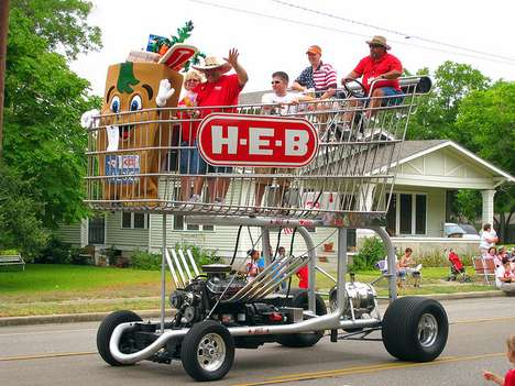 Supermarket H-E-B Rides in Grocery Shopping Style