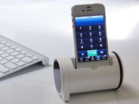 Ergonomic Cylinder iPhone Docks