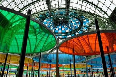 Eccentric Luminous Glass Art