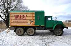 Steamy Truck Saunas - The Russian Portable Sauna Heats up on the Move