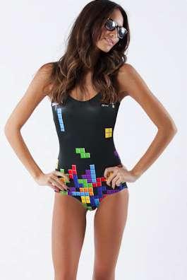 Tetris-Inspired Swimwear