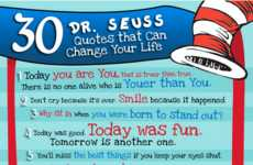 Meaningful Phrase Infographics - The '30 Dr. Seuss Quotes' Graph will Make You Think Twice
