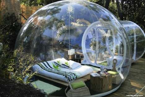 Transparent Pod Lodgings