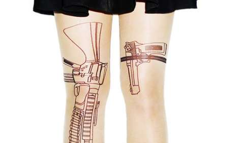 Locked and Loaded Leggings - These Machine Gun Stockings are Fierce and Ready to Fire
