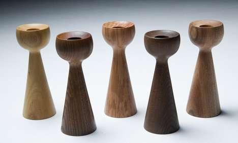 Minimalist Wood-Turning Sculptures