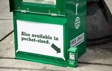Downsized Newspaper Boxes - Rethink Goes Tiny with Metro Campaign Design
