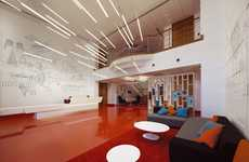 Avant-Garde Airline Lobbies - The Virgin Atlantic Headquarters Upgrades Their Look to Sleek & Modern