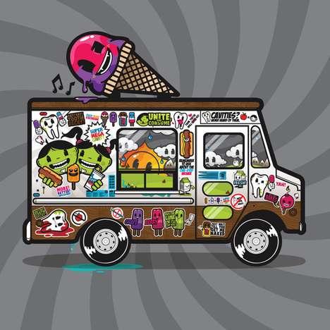 Irreverent Ice Cream Illustrations