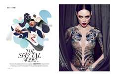 Controversial Second-Skin Editorials (UPDATE) - ELLE Brazil 'The Special Model' Stars Coco Rocha