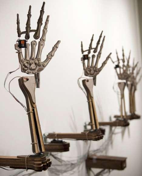 Expressive Skeletal Hand Exhibits